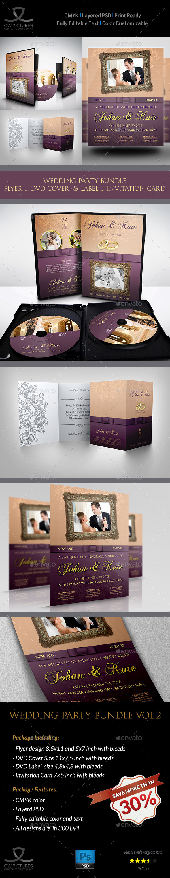 GraphicRiver Wedding Party Bundle Vol.2 11453810