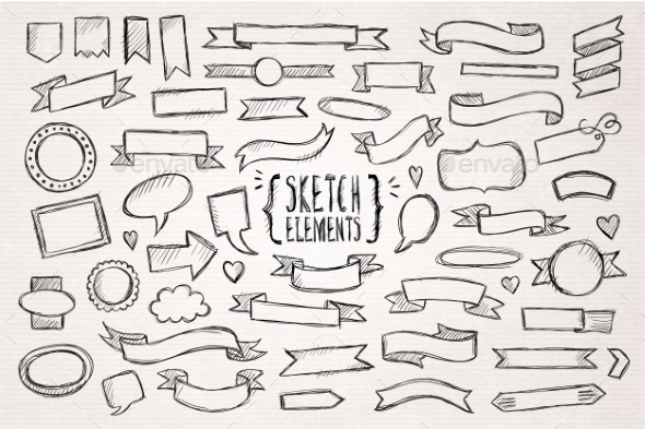 GraphicRiver Hand Drawn Sketch Hand Drawn Elements 11453826
