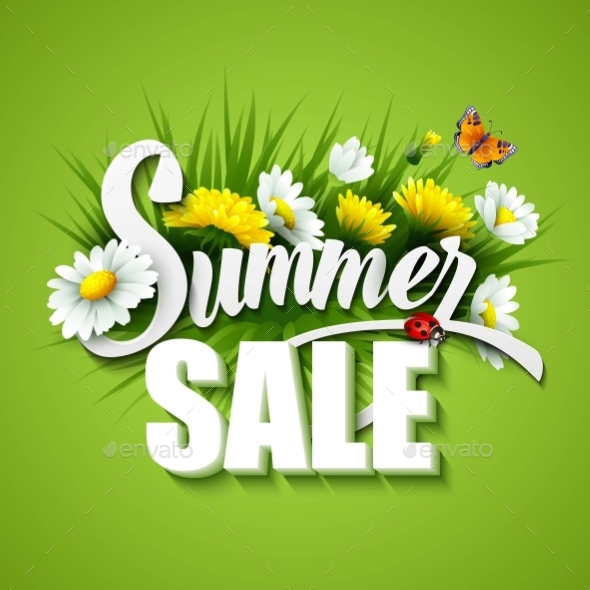 GraphicRiver Summer And Spring Sale Template Vector 11454011