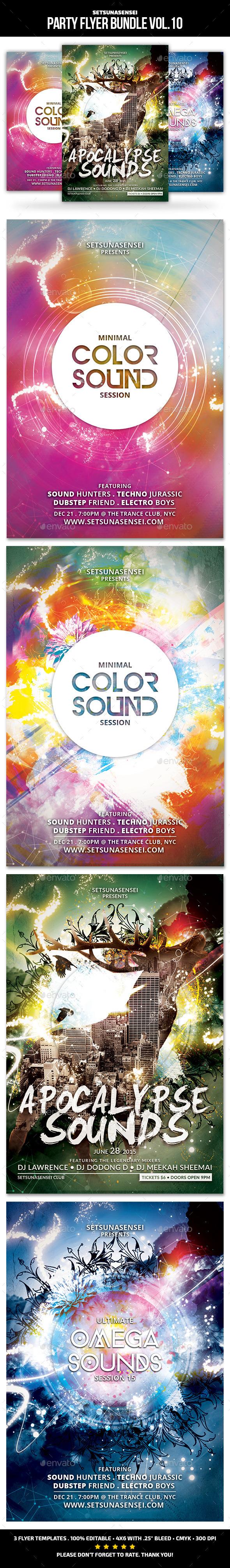 GraphicRiver Party Flyer Bundle Vol.10 11454122