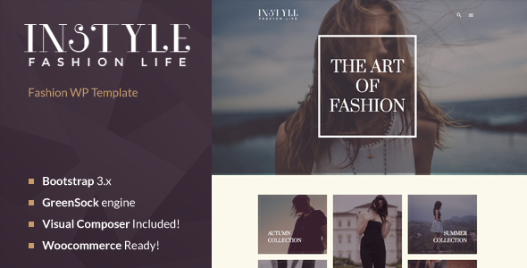 ThemeForest Instyle Fashion & Elegant WP Theme 11425406