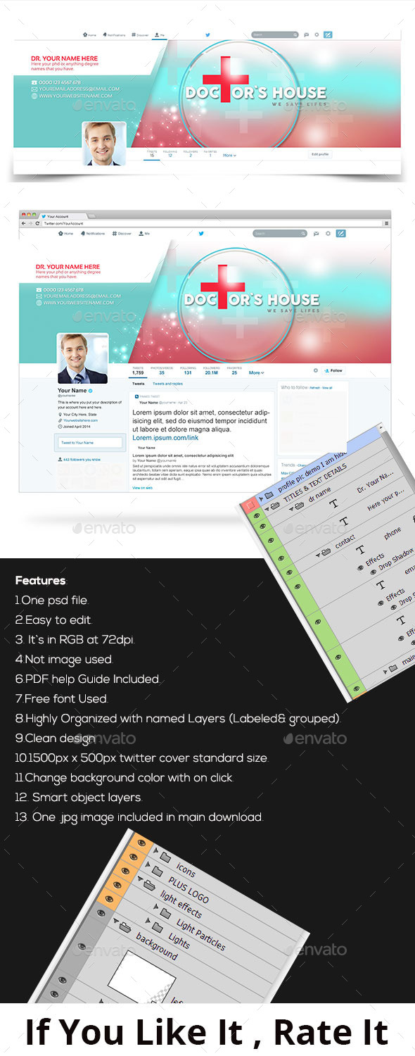 GraphicRiver Doctor Twitter Profile Cover v1 11454218
