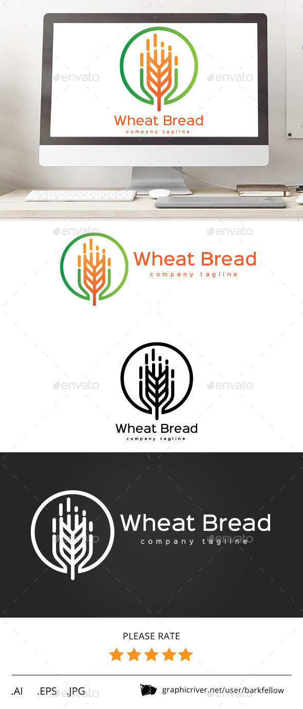 GraphicRiver Wheat Bread Logo 11454278