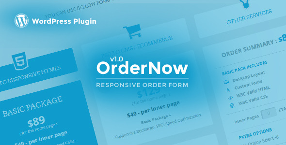 CodeCanyon OrderNow Responsive Order Form WordPress Plugin 11423646