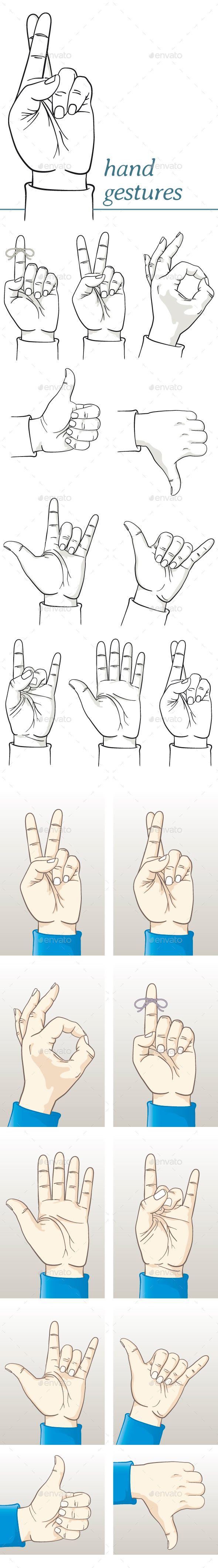 GraphicRiver Hands Making Various Gestures 11454411