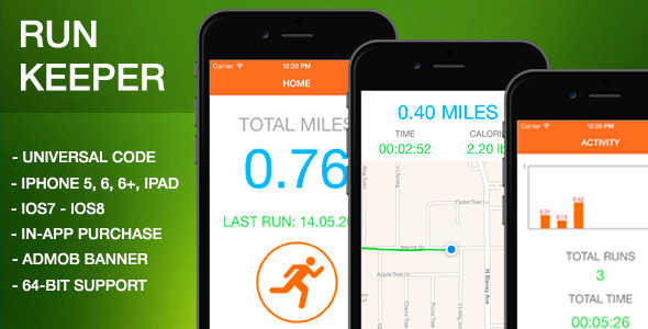 CodeCanyon RunKeeper Gps workout 11454517