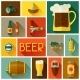 Background with Beer Icons and Objects - GraphicRiver Item for Sale