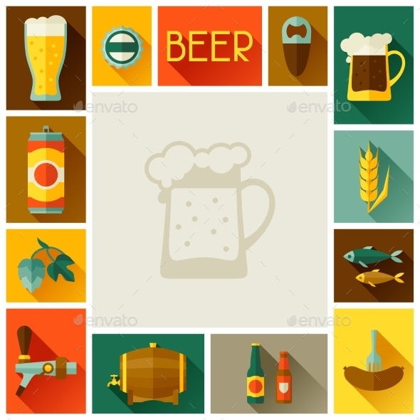 GraphicRiver Frame with Beer Icons and Objects 11454528