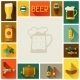Frame with Beer Icons and Objects - GraphicRiver Item for Sale