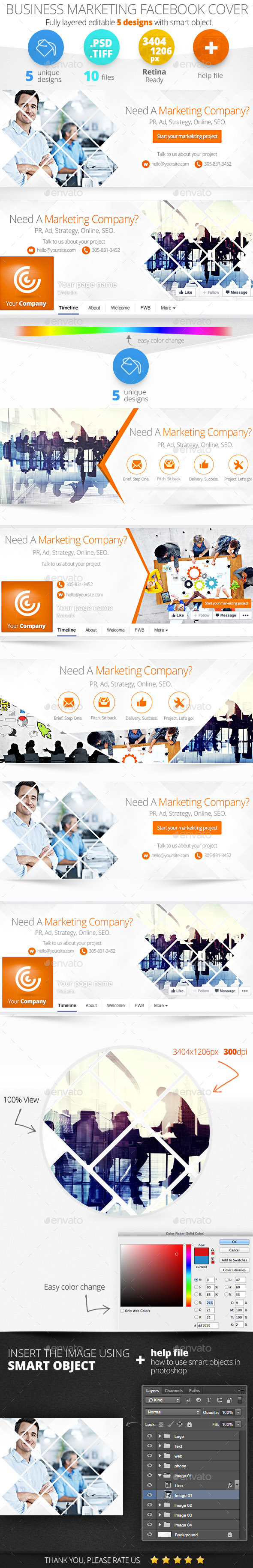 GraphicRiver Business Marketing Facebook Timeline Covers 11454601