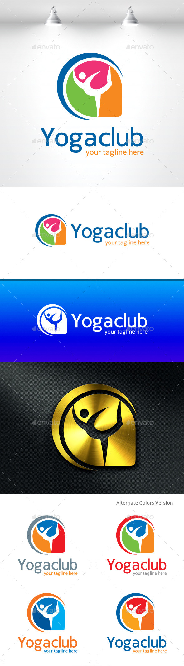 GraphicRiver Yoga Club Logo 11454663