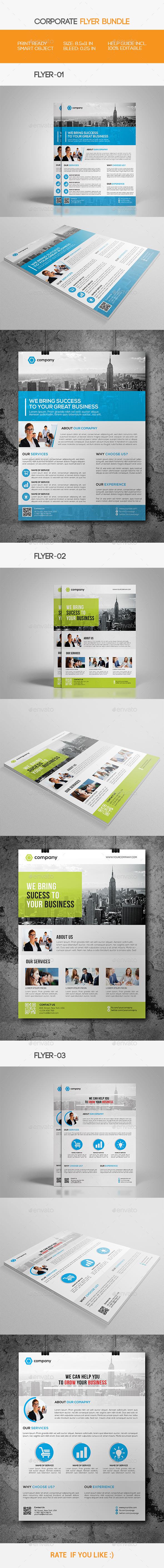 GraphicRiver Corporate Flyer Bundle 11454690
