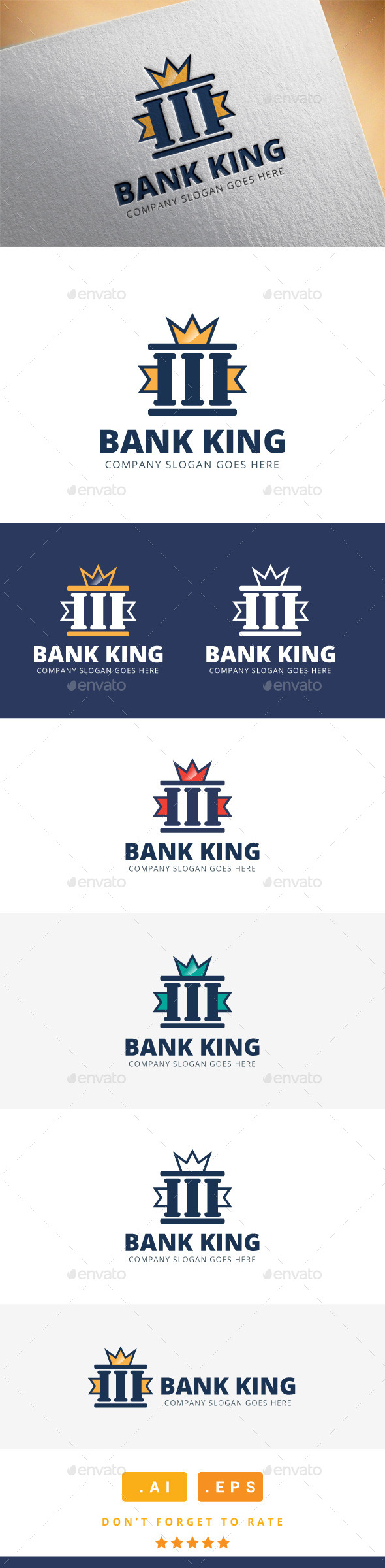 GraphicRiver Bank King Logo 11454692