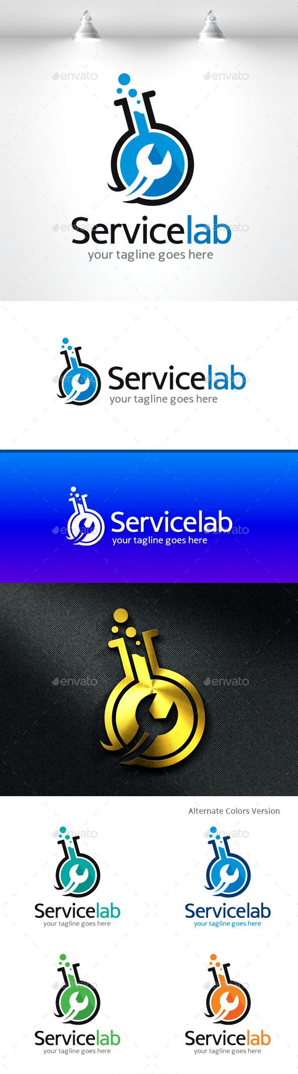 GraphicRiver Service Lab Logo 11454693