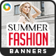 Summer Fashion Banners - GraphicRiver Item for Sale