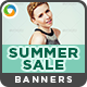 Summer Sale Banners - 2 Sets - GraphicRiver Item for Sale
