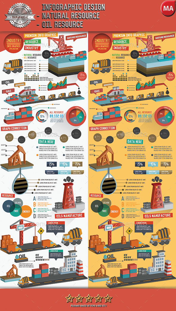 GraphicRiver Natural resource & Oil industry infographic design 11454716