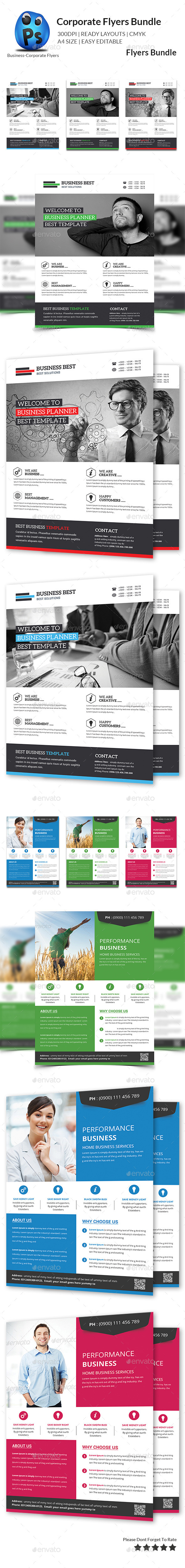 GraphicRiver Multipurpose Business Flyer Bundle 11454736