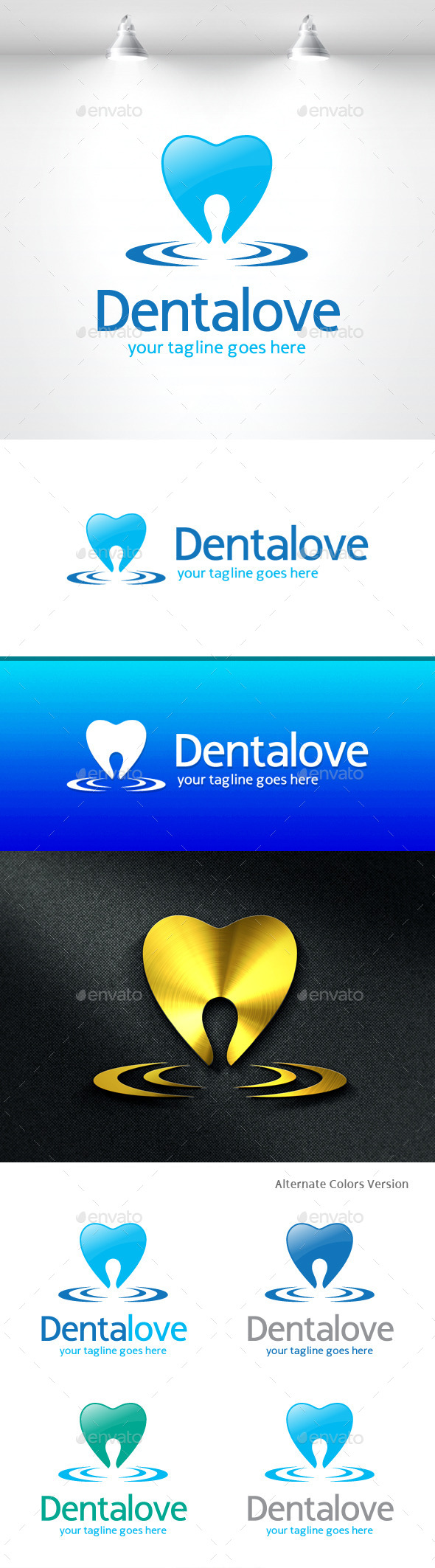 GraphicRiver Dental Love Logo 11454747