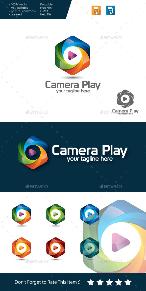 GraphicRiver Camera Play Logo 11454817