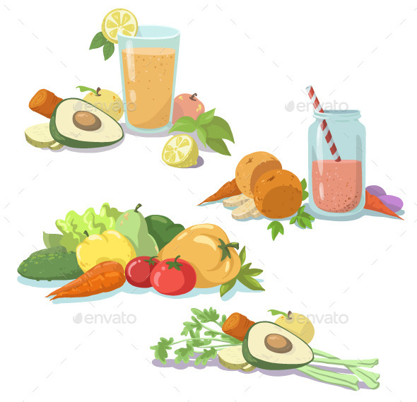GraphicRiver Smoothie and Fresh Fruit 11454889