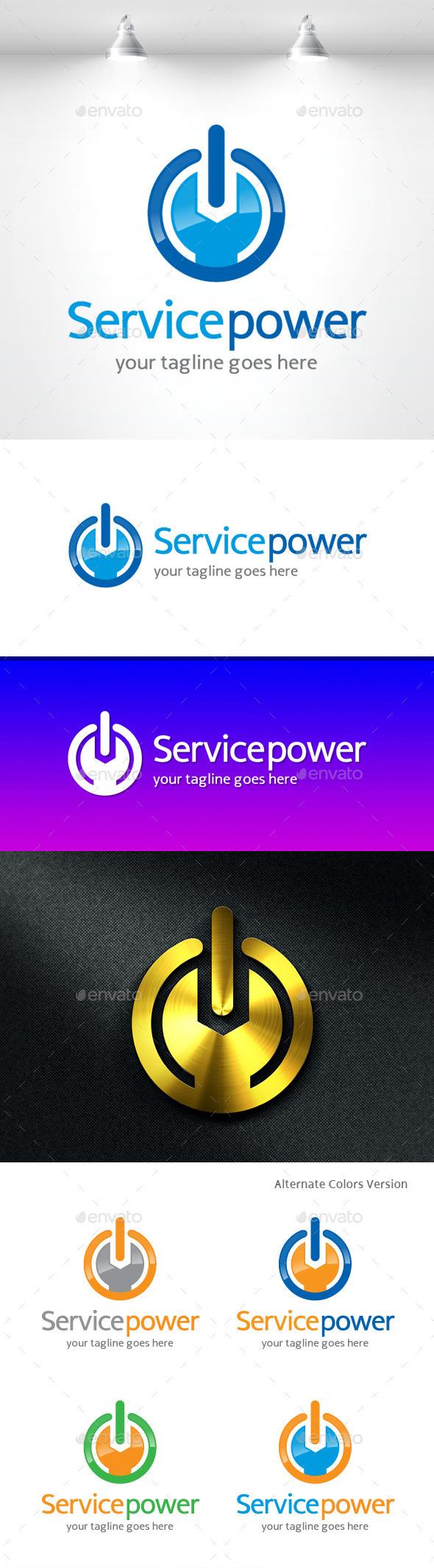 GraphicRiver Service Power Logo 11454897