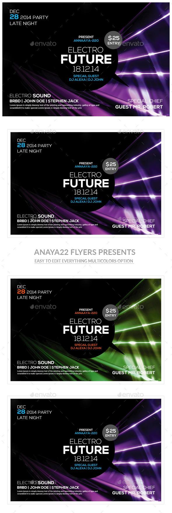 GraphicRiver Electro Futuristic Flyer Poster 11454914