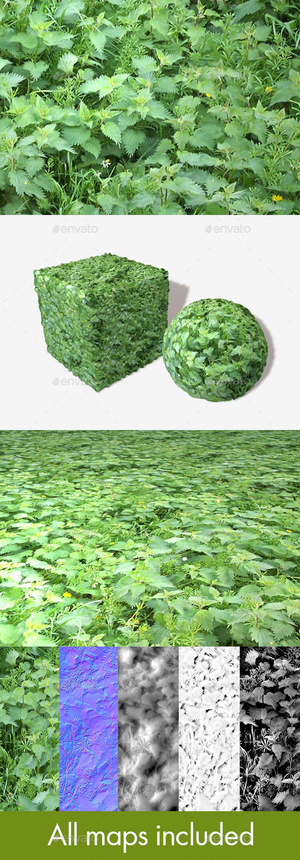Nettles Seamless Texture - 3DOcean Item for Sale