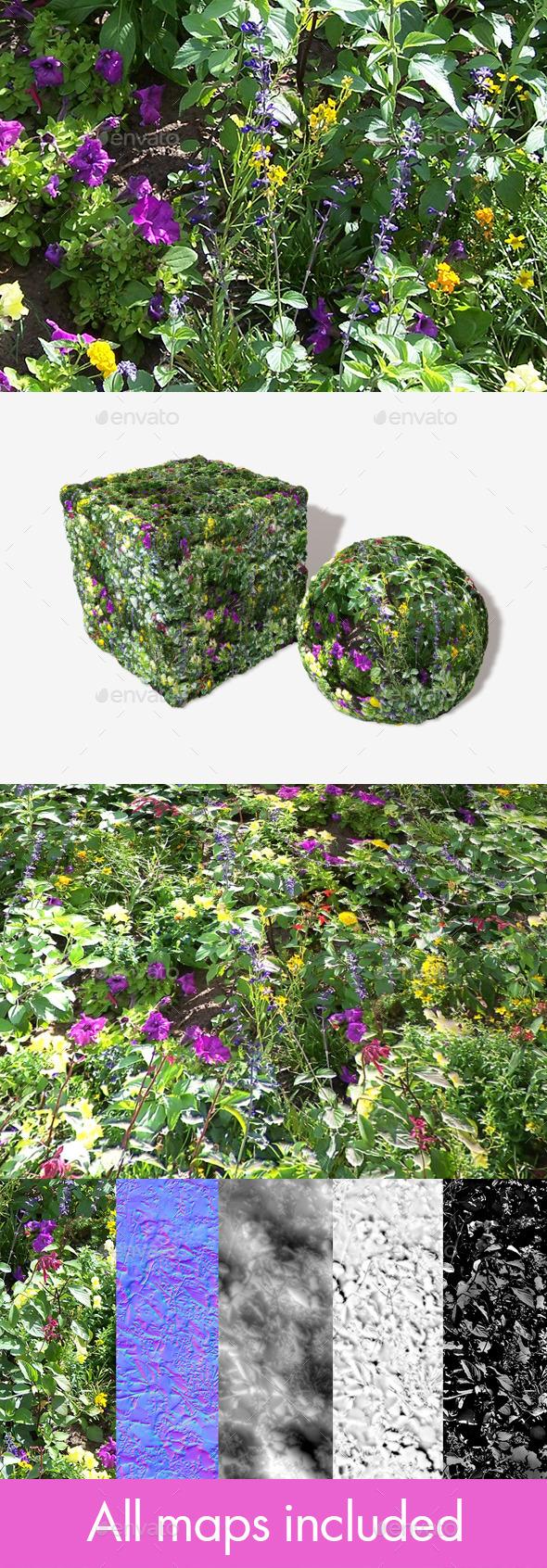 3DOcean Wild Flowers Seamless Texture 11454969