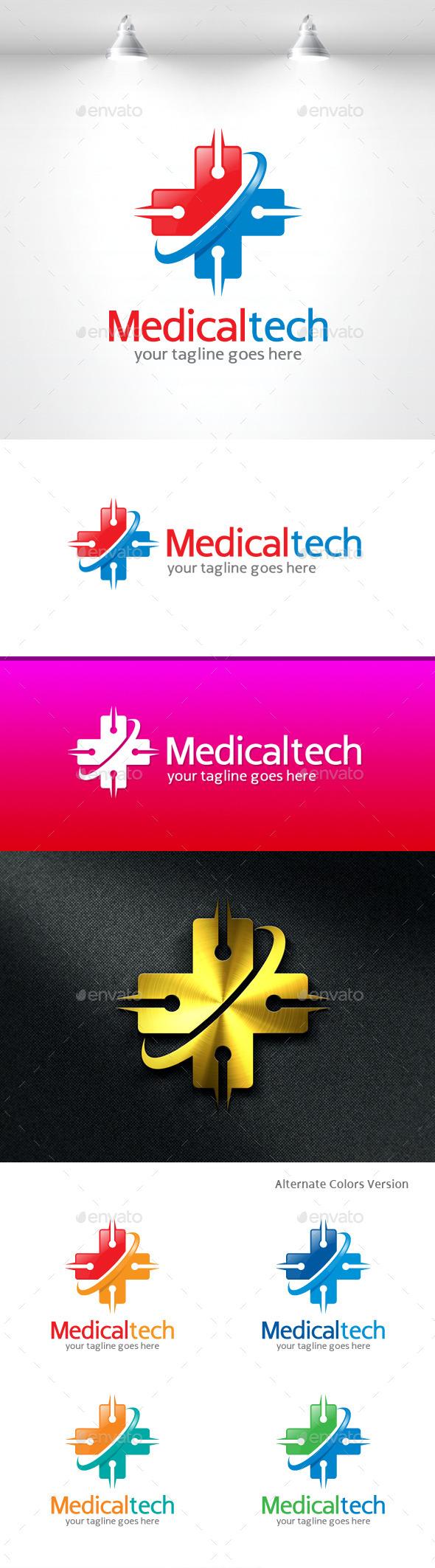 GraphicRiver Medical Tech Logo 11454973