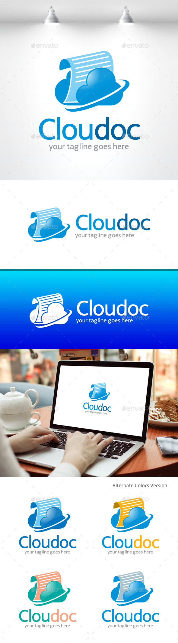 GraphicRiver Cloud Document Logo 11454681