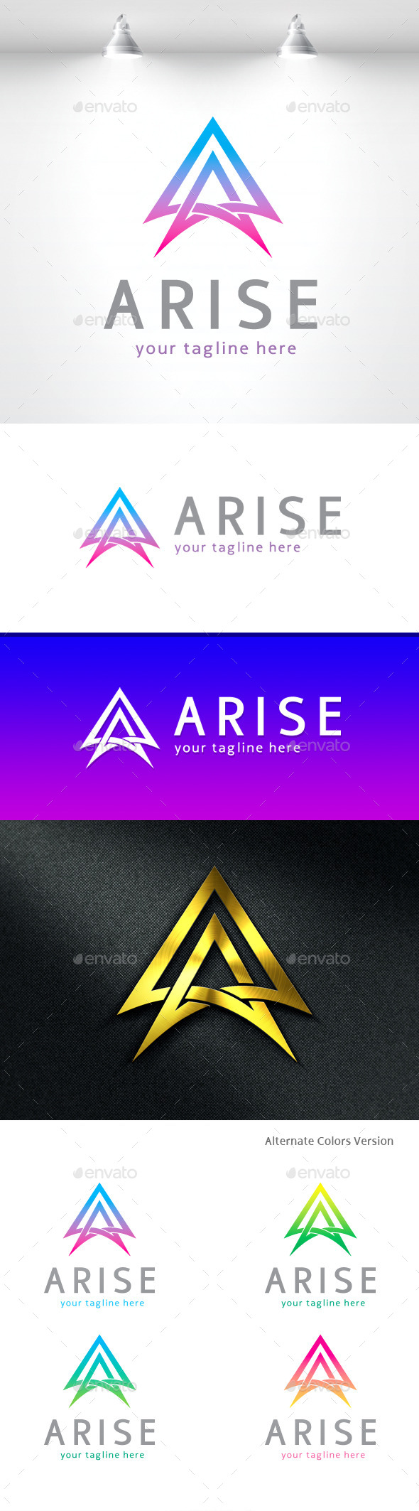 GraphicRiver Arise Letter A Logo 11455091