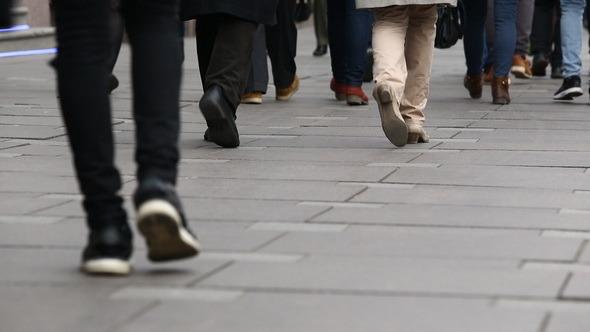 VideoHive People Walking in the Street 11455103