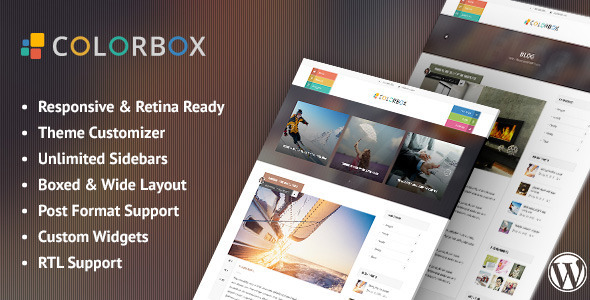 ThemeForest Colorbox Responsive WordPress Blog Theme 11426659