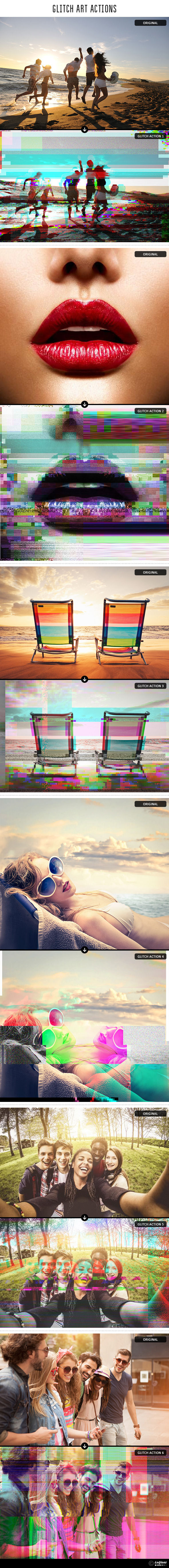 GraphicRiver Glitch Art Photoshop Actions 11455182