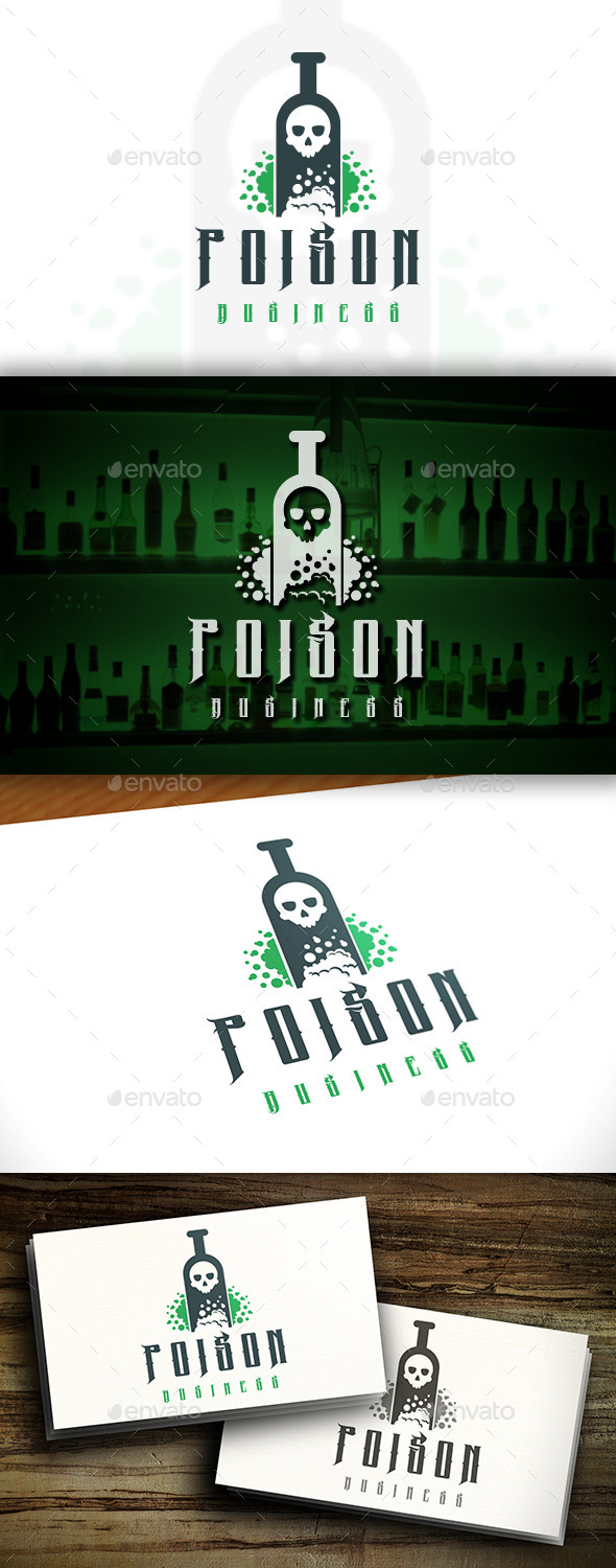 GraphicRiver Poison Bottle Logo 11455210