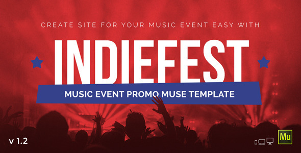 IndieFest - Music Event Promo Muse Template - Miscellaneous Muse Templates