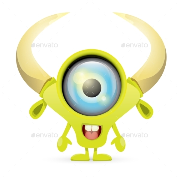 GraphicRiver Green Cartoon Monster 11455321