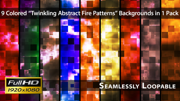 Twinkling Abstract Fire Patterns Pack 01