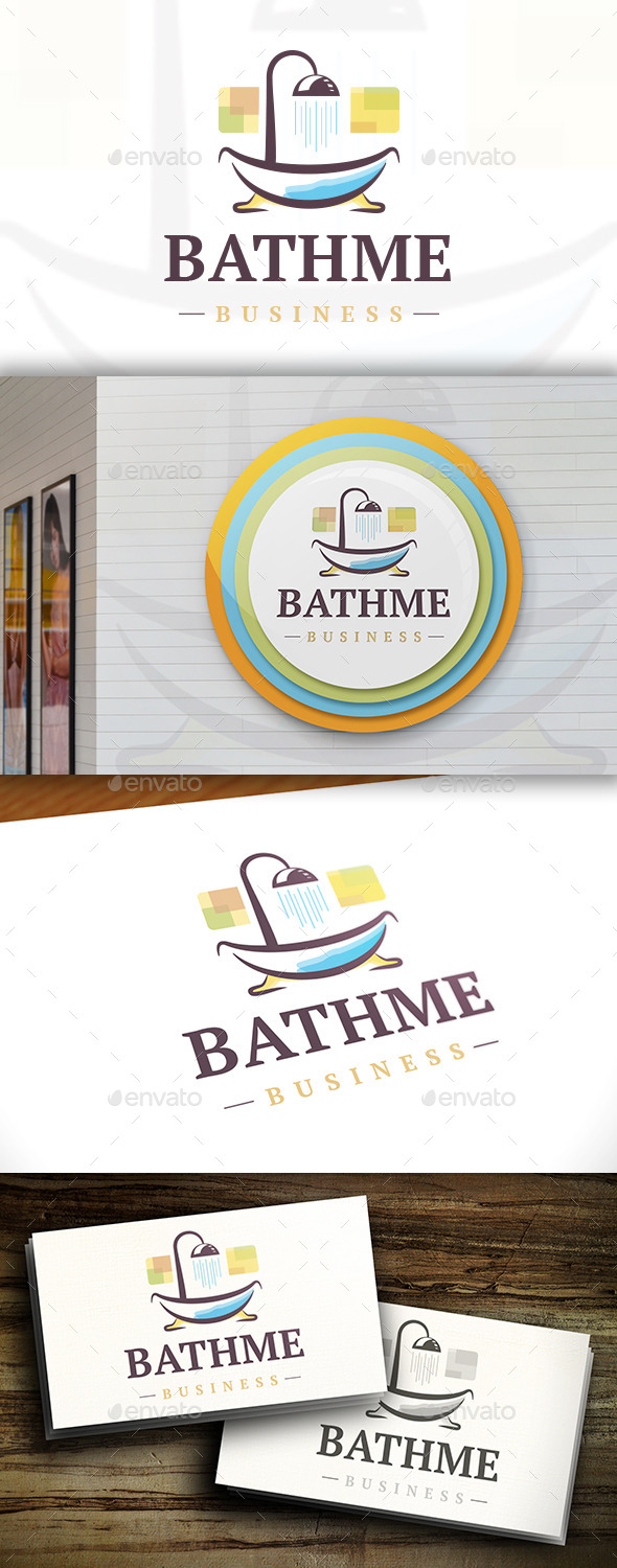 GraphicRiver Bath Logo 11455390