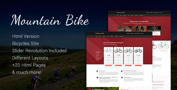 ThemeForest Mountain Bike Bicycle and BMX Sport Template 11455442