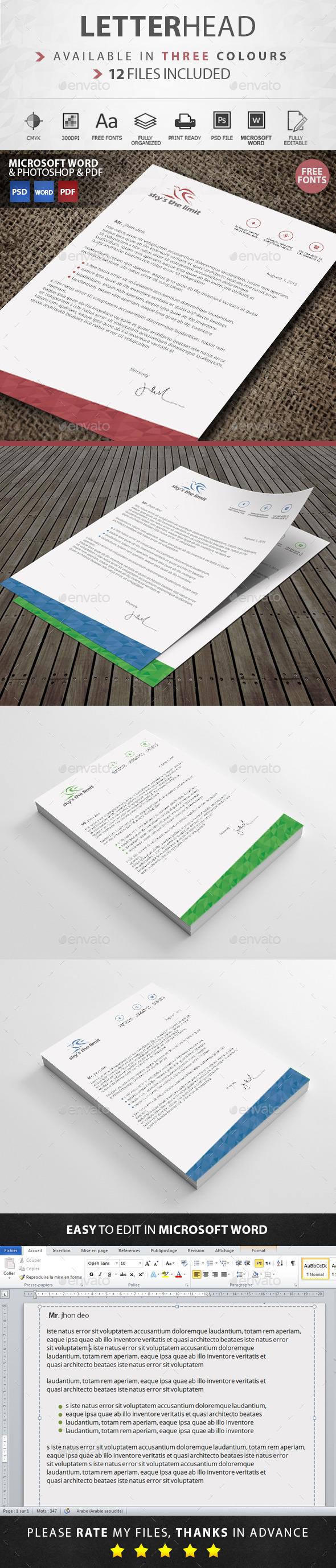 GraphicRiver Letterhead 11455467