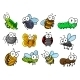 Colorful Set Of Cartoon Insects Characters - GraphicRiver Item for Sale