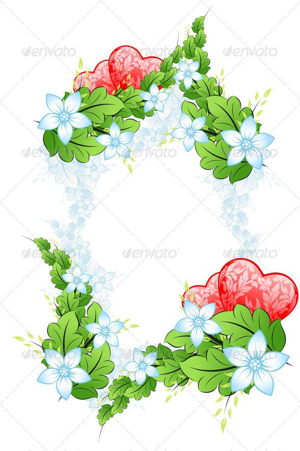 Floral Valentines Day Framing - Valentines Seasons/Holidays