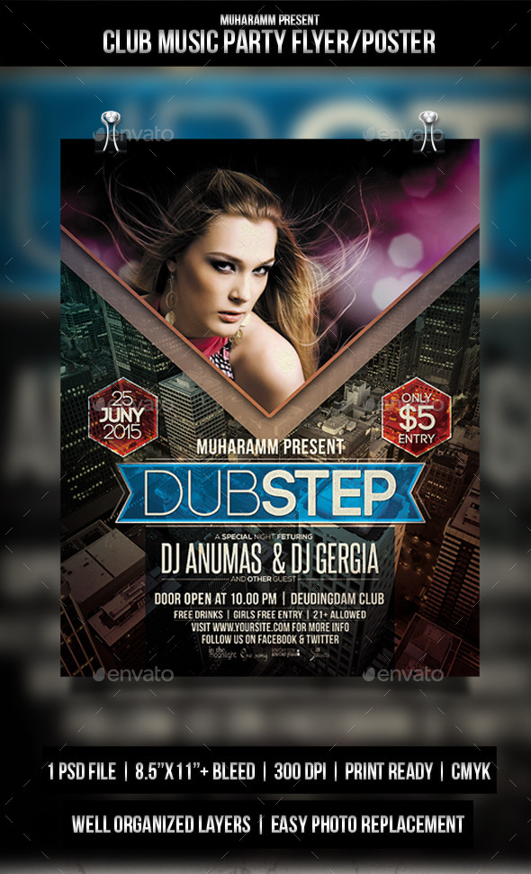 GraphicRiver Club Music Party Flyer Poster 11456119