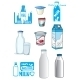 Cartoon Milk Products And Drinks - GraphicRiver Item for Sale