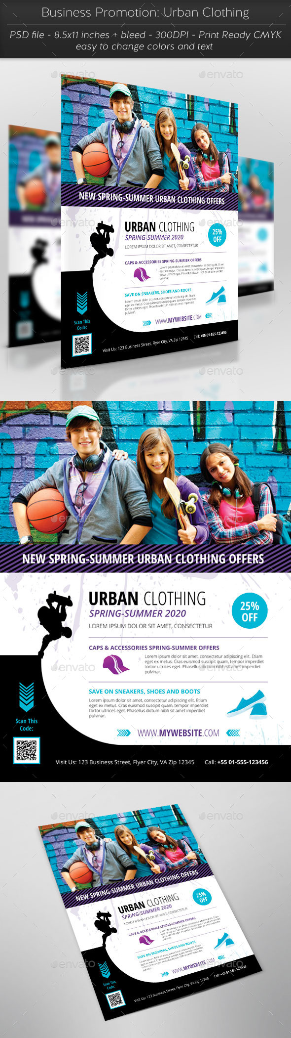 GraphicRiver Business Promotion Urban Clothing 11456296
