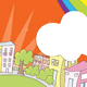Colorful, illustrated town image - GraphicRiver Item for Sale