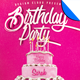 Birthday Party Cake Flyer Template - GraphicRiver Item for Sale