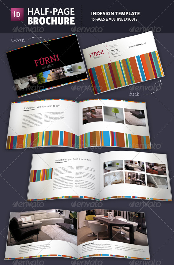 half page brochure indesign template by adriennepalmer